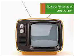 tv powerpoint templates old tv set powerpoint template backgrounds id 0000027410