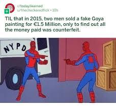 pointing spider man meme intensifies