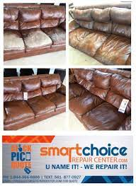 synthetic leather couch been damaged