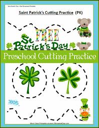 Saint Patrick's Day Printables: Preschool Cutting Practice – 3 ...