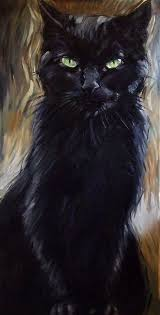 cat painting 24 x 48 inches original oil painting on canvas by