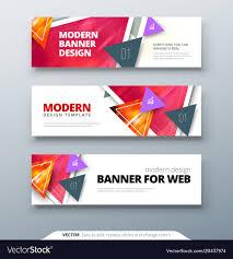 Desain Banner Banner Design Abstract Geometric Design