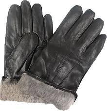 get ations top quality men s rabbit fur lined genuine soft black leather gloves