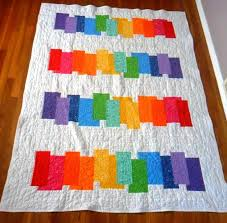 195 best STRIPED RAINBOW QUILTS images on Pinterest | Carpets, Log ... & Rainbow Quilt II This would be a good quilt to make with hand dye fabrics Adamdwight.com