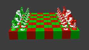 North Pole vs South Pole Christmas Chess Set 3D print model from ...