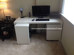assembled office desks. Fashionable Assembled Computer Desks Pertaining To Ikea Malm Desk With Drawer Unit At Quincy Plaza Office