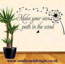 make your own path in the wind wall sticker