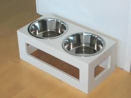 pet bowl stands white outdoor double diner diy modern pet bowl stand raised dog bowl stand