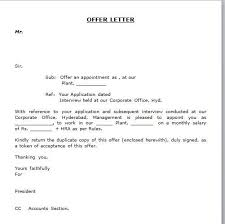 Simple Appointment Letter Format Best Template Collection