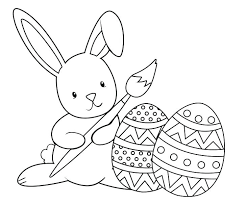 Large Print Easter Coloring Pages Printable Egg Templates Coloring