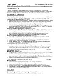 Supervisor Resumeample Cv Template Objective Customererviceummaryite