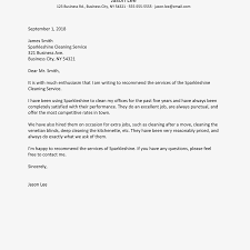 Letter Of Recommendation For A Company Business Reference Letter Examples