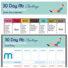 Weight Loss Plan Ab Workout Printable The 30 Day Ab Challenge For Beginners Workout Plan Fitness Workout New Years Resolution