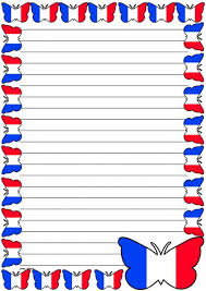 images of flag lined writing template net printable lined writing paper via french flag page borders