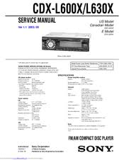 sony cdx l600x fm am compact disc player manuals Sony Cdx L550x Wiring Diagram sony cdx l600x fm am compact disc player service manual sony cdx l510x wiring diagram