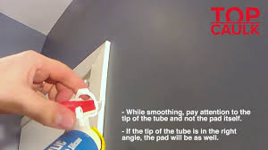 Tips For Caulking Trim Caulking Door Trim With The Top Caulk Applicator Youtube