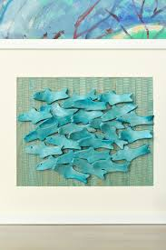diy air dry clay art with sculptural fish