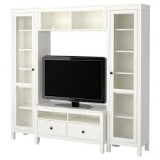 This with a desk instead of TV cabinet in the center (HEMNES TV storage  combination IKEA)