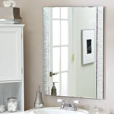 Frameless Bathroom Mirror With Shelf