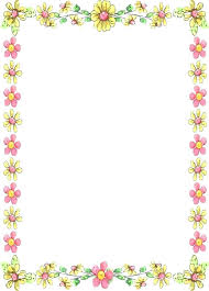 Floral Borders For Word Border Paper Template Also Unique Word Flower Templates