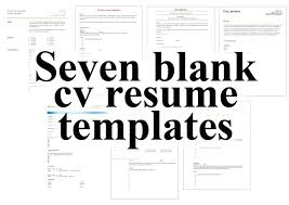 Cv And Resume Free Resume Template Cv Resume Template Doc
