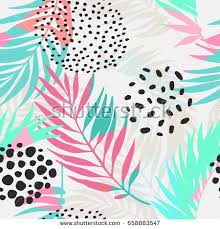 Summer Pattern Fascinating Abstract Summer Seamless Pattern Floral Geometric Stock Vector