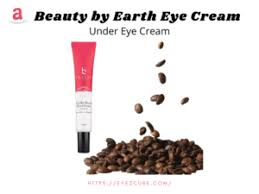 Bye bye dark circles and puffy eyes! Coffee Beans Beauty By Earth Natural Eye Cream Reviews