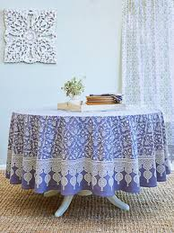 victorian lilac purple fl bohemian round tablecloth