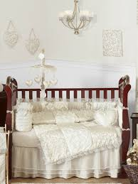 Beautiful Victorian Ivory and Champagne Baby Bedding