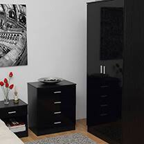 bedroom furniture in black. Otto Black High Gloss Bedroom Furniture.£35-£329. Furniture In U