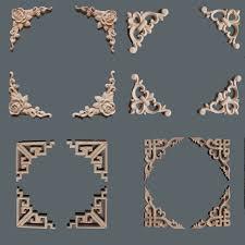 wood appliques for furniture. Wooden Appliques For Furniture. 10PCS Natural Wood Irregular Flower Carving Decals Decorative Mouldings Furniture