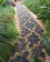 13 DIY Creative Ways To Create Pebble Spiral Mosaic Path In Garden Mosaic Garden Path