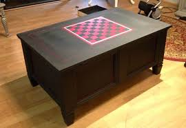 Innovative Game Coffee Table Coffee Table Game Table With Checkerboard  Painted With Chalk