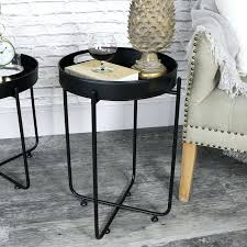 round tray table round black tray side table folding tray tables target