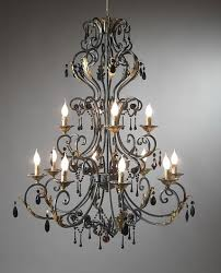 modern wrought iron crystal chandelier