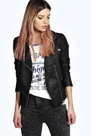 boohoo torah faux leather biker jacket