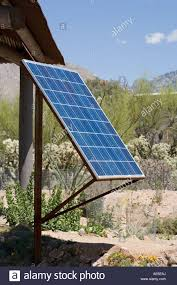 Outdoor Lighting Tucson Solar Panel Being Used In A Garden For Outdoor Lighting And