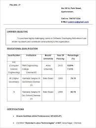 Free Resume Samples For Freshers Resume Template For Fresher 10
