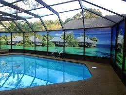 pool enclosure lighting private screen work 1 diy pool cage lighting