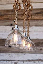 chic rope pendant light for your home design