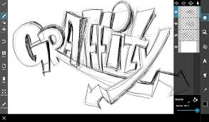 how to draw easy graffiti letters step