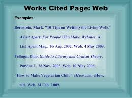 Work Citation Mla Format Works Cited Mla Format Website Generator