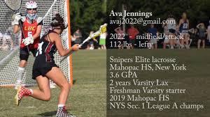 Ava Jennings | 2019 Lacrosse Highlights - YouTube