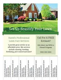 lawn care advertising templates printable lawn care business flyer templates