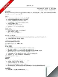 Club Security Officer Sample Resume Stunning Security Guard Resume Example Security Resume Examples And Samples