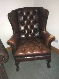 leather chesterfield chair. Brown Leather Chesterfield Armchair Chair T
