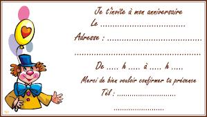 Carte Dinvitation Le Clown Tipirate