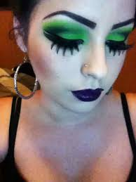 wicked witch eye makeup image