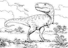 Endearing Coloring Pages Dinosaurs T Rex Colouring In Pretty