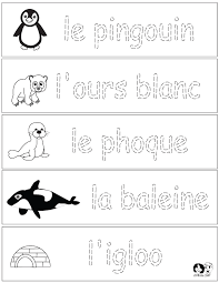 French Winter Animals Worksheets - French for Children - Free ...